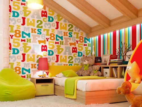 Оформление стен в детской комнате своими руками 7