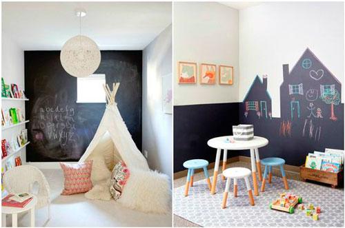 красивое оформление стен в деткой комнате наклейками