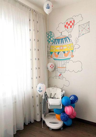 как уютно оформить стены в комнате ребенка 10