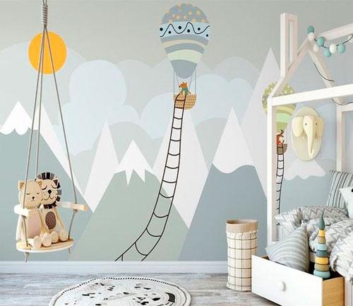 как уютно оформить стены в комнате ребенка 9