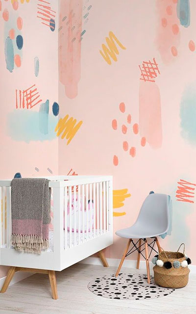 как уютно оформить стены в комнате ребенка 8