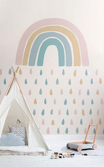 как уютно оформить стены в комнате ребенка 6