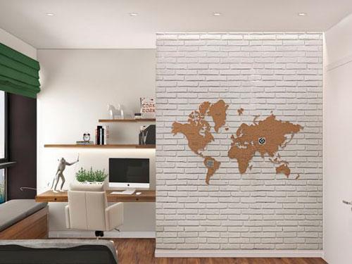 красивое оформление стен в деткой комнате наклейками 9