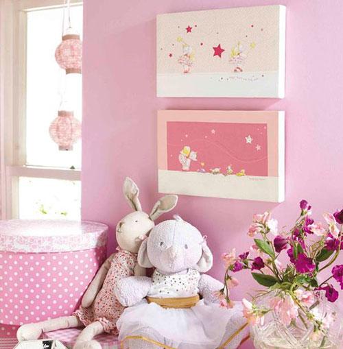 оформление стен в детской для девочки 9