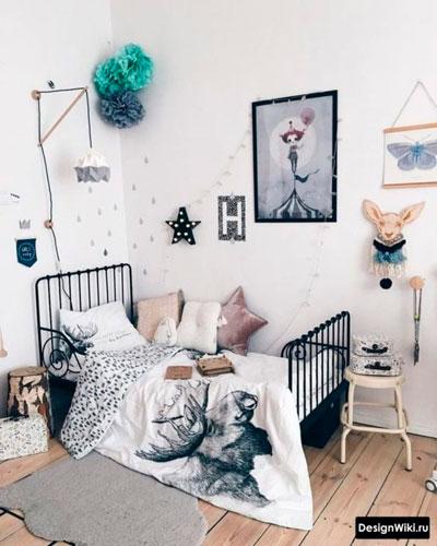 оформление стен в детской для девочки 8