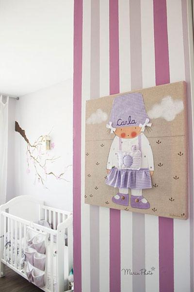 оформление стен в детской для девочки 7