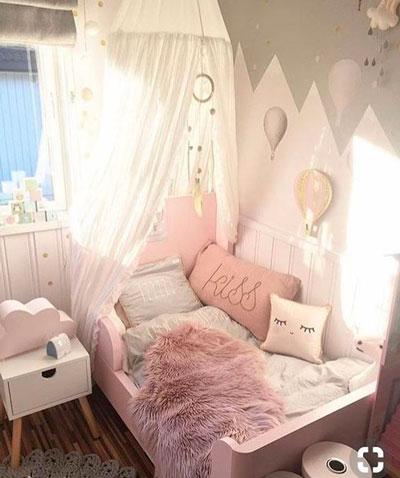 оформление стен в детской для девочки 3