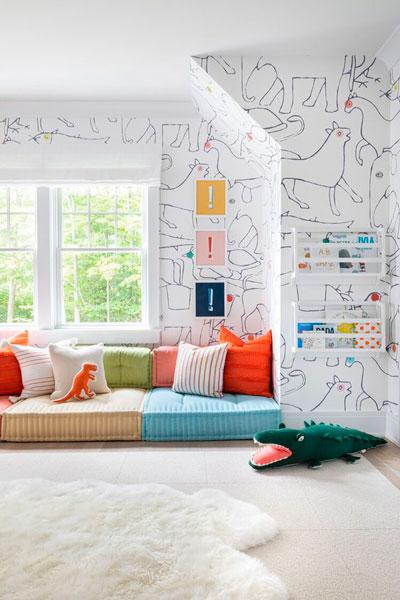 оформление стен в детской для мальчика 7