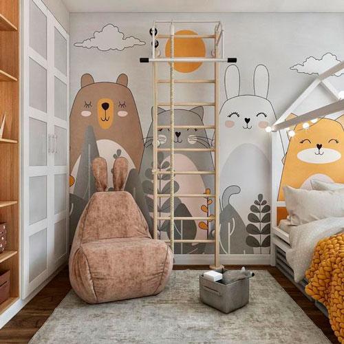 оформление стен в детской для мальчика 5
