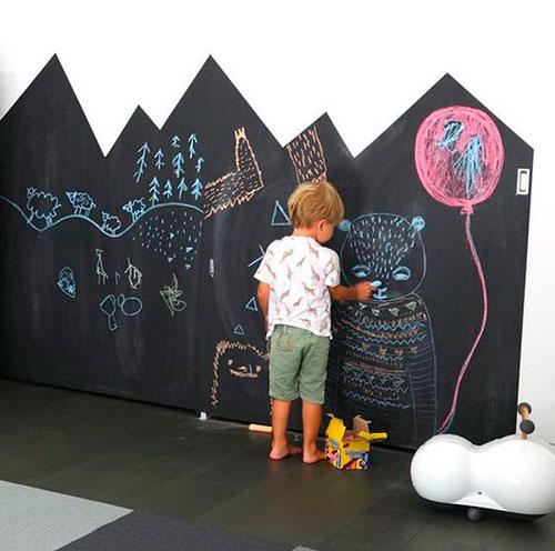 оформление стен в детской для мальчика 4