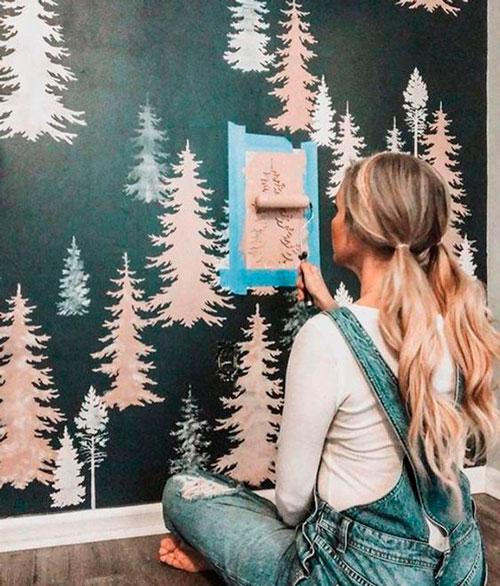 как правильно оформить стены в детской комнате 7