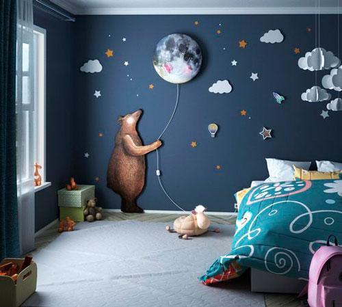 как правильно оформить стены в детской комнате 5