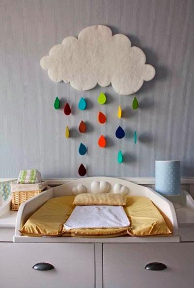 как правильно оформить стены в детской комнате 4