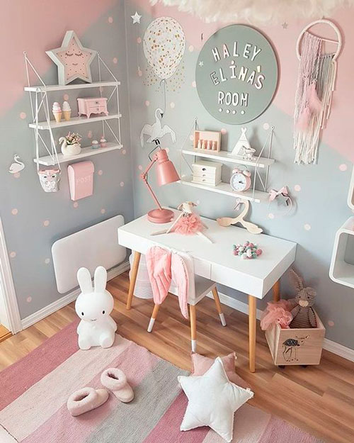 стены в детской с красивым оформлением 10