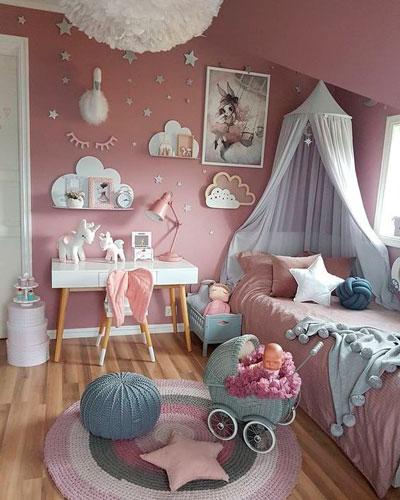 стены в детской с красивым оформлением 9