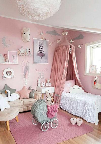 стены в детской с красивым оформлением 6