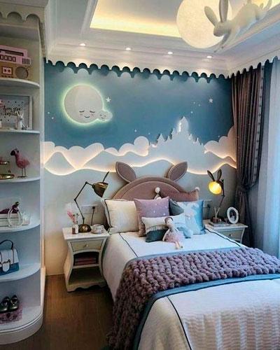 стены в детской с красивым оформлением 2
