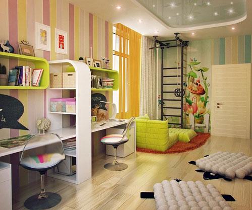 организация освещения в детской комнате
