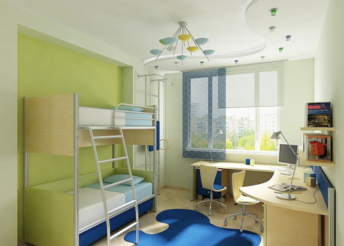 организация маленькой детской комнаты