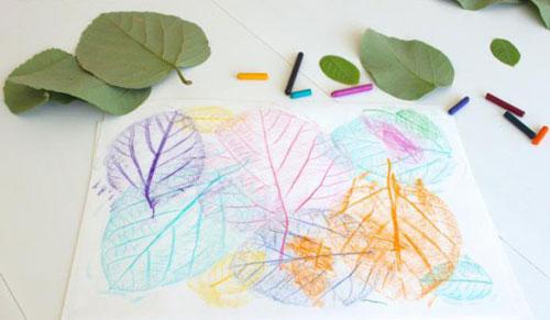 Осенние листья из бумаги 2