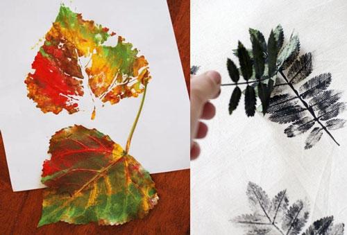 Осенние листья из бумаги 3
