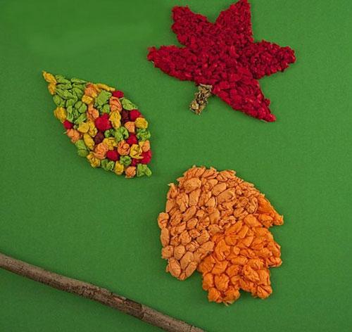 Осенние листья из бумаги 5