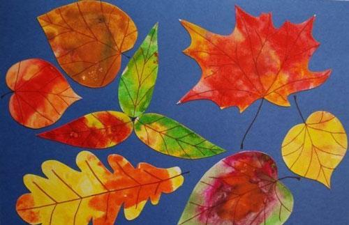 Осенние листья из бумаги 8