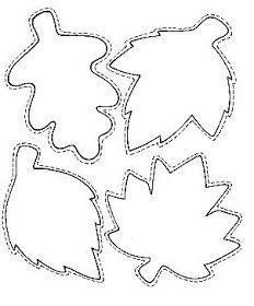 осенние листья для вырезания из бумаги 22