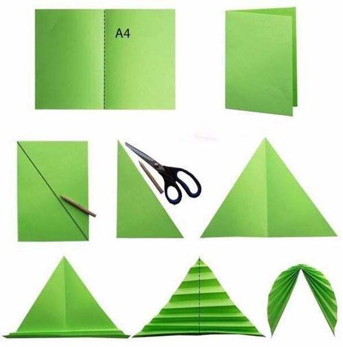 осенние листья из бумаги для оформления 12