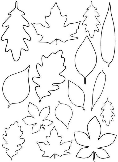 осенний лист поделка из бумаги