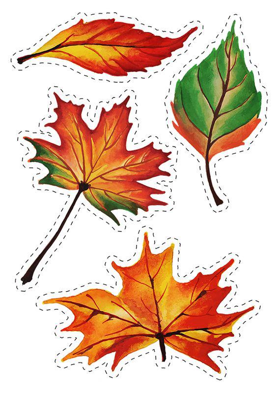 осенние листья для вырезания из бумаги 15