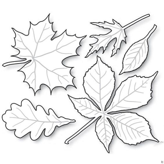 осенние листья для вырезания из бумаги 16