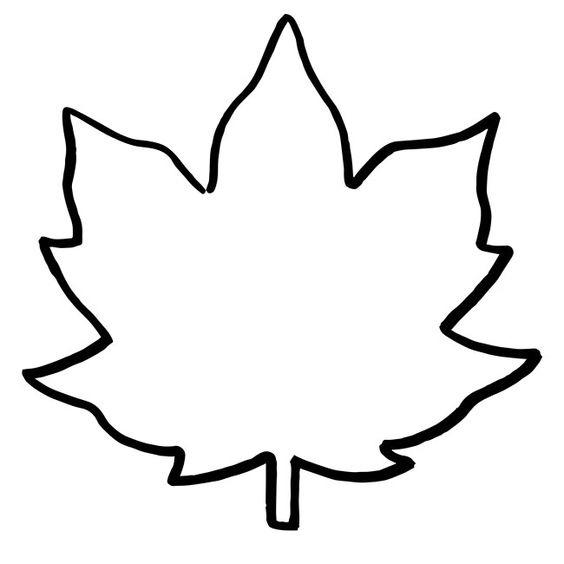 осенние листья для вырезания из бумаги 18