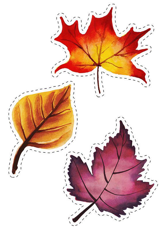 осенние листья для вырезания из бумаги 19