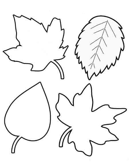 осенние листья для вырезания из бумаги 21