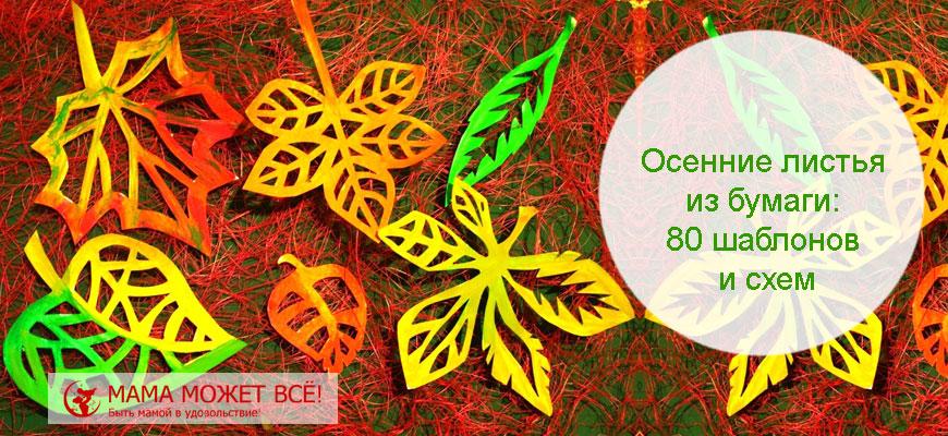 красивые осенние листья из цветной бумаги