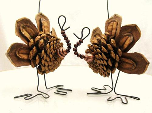 Осенние поделки из шишек на выставку в садик 2