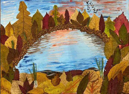 Осенний гербарий из природных материалов для детей 2