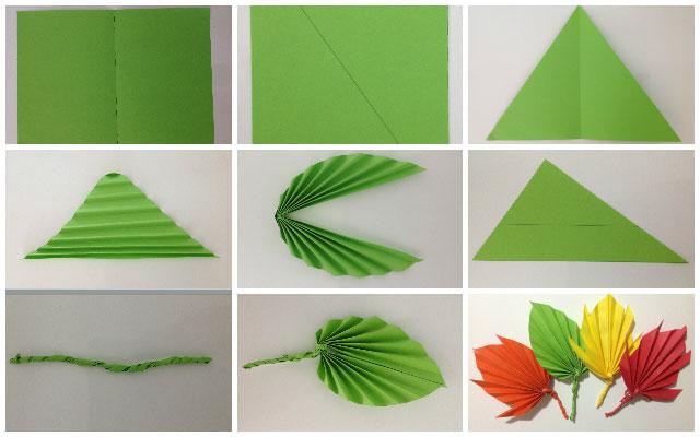 осенний лист из бумаги своими руками 2