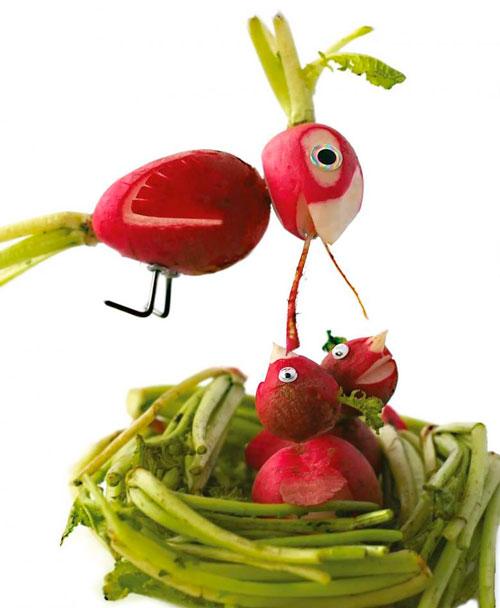 поделки сад из овощей