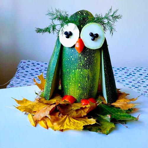 поделки из овощей и фруктов своими руками для детей 3