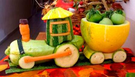 поделки овощи из природных материалов