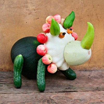 поделки из овощей и фруктов своими руками в детский сад 2