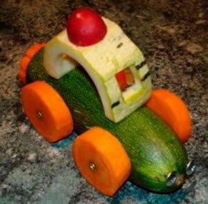 машина из овощей
