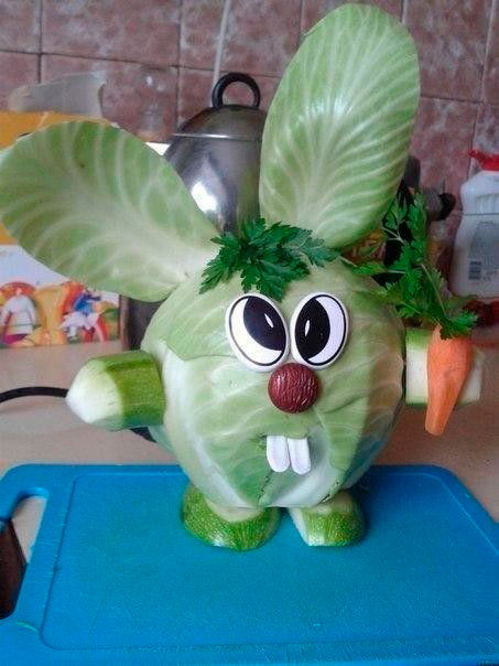 поделка заяц из овощей своими руками