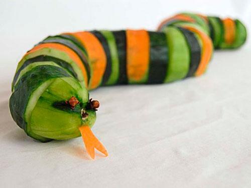 можно сделать поделку из овощей