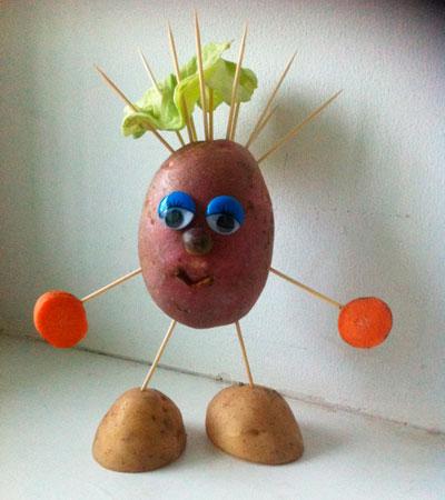 Поделки из овощей своими руками в школу 4