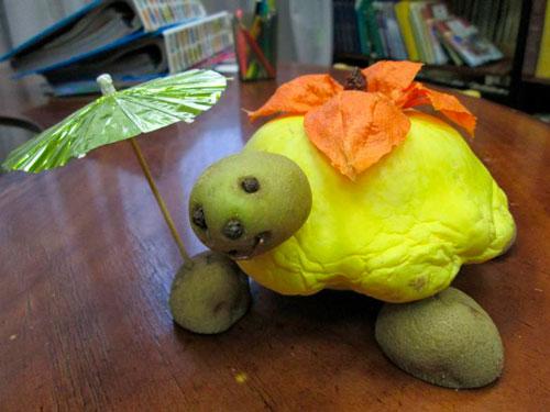 поделка черепаха из овощей в школу