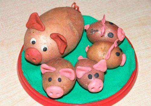 какую простую поделку сделать из овощей в детский садик 4