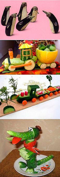 какую простую поделку сделать из овощей в детский садик 2